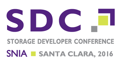 SNIA Storage Developer Conference 2016