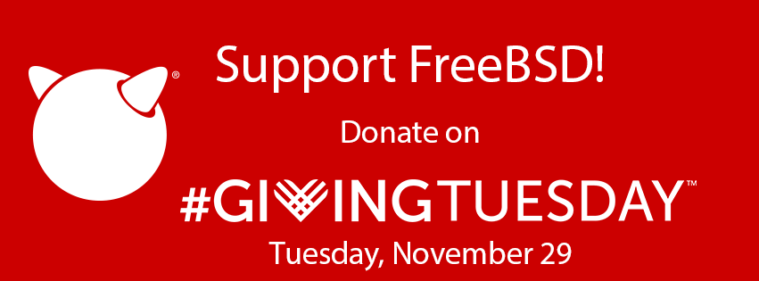 Support FreeBSD Tomorrow on #GivingTuesday