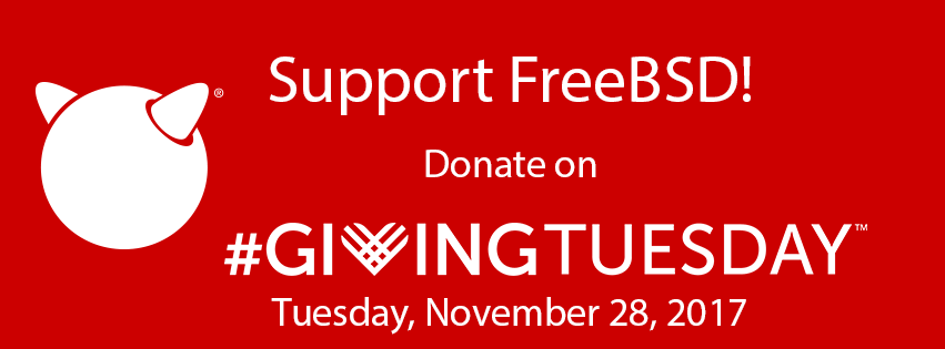 Support FreeBSD on #GivingTuesday 2017