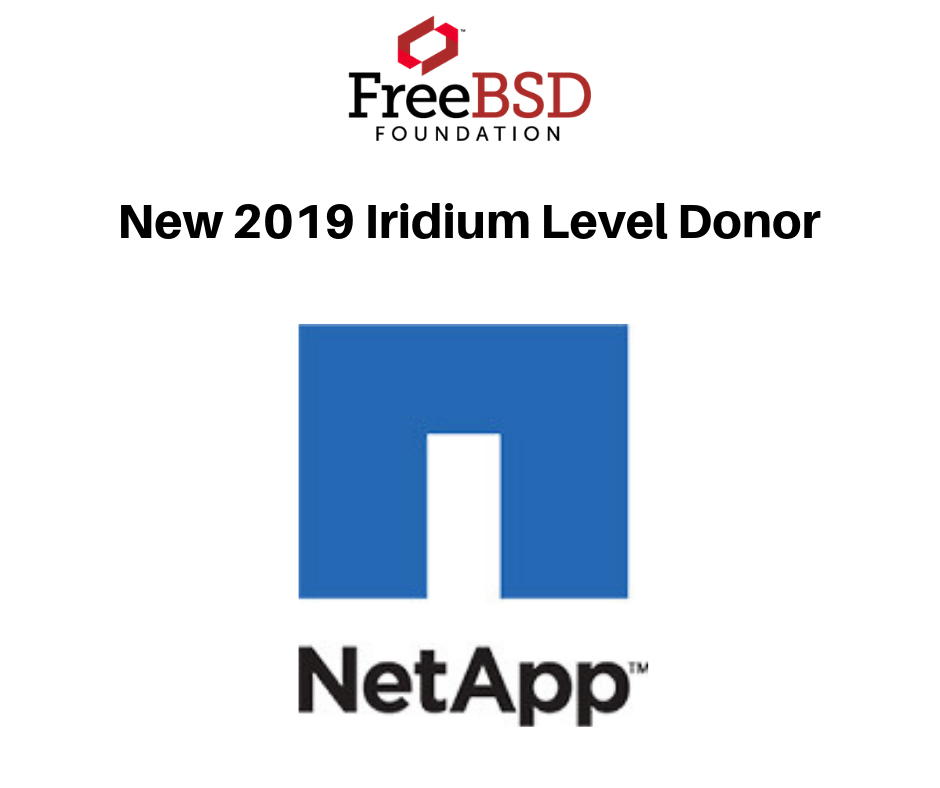 NetApp Returns as Iridium Level Donor in 2019