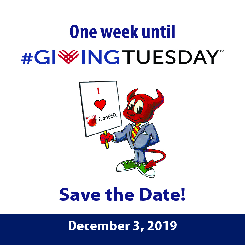 Support FreeBSD on #GivingTuesday