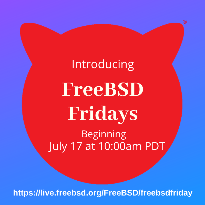 Announcing FreeBSD Fridays: A Series of 101 Classes